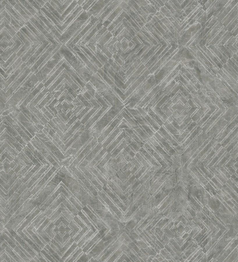 Papel pintado geométrico efecto metálico Naxos 679586