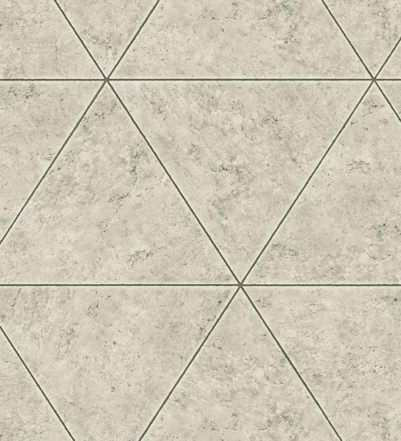 Papel pintado geométrico efecto hormigón pulido Nantes 679596