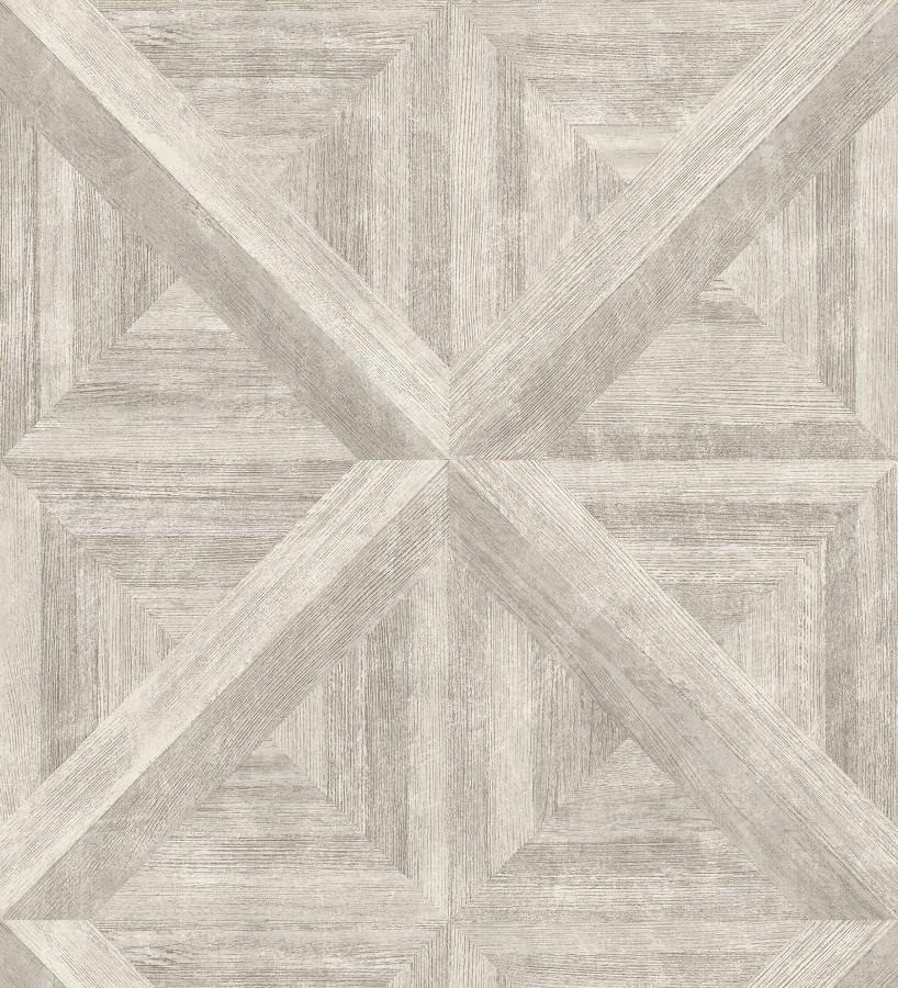 Papel pintado geométrico cuarterones de madera Delfos 679601