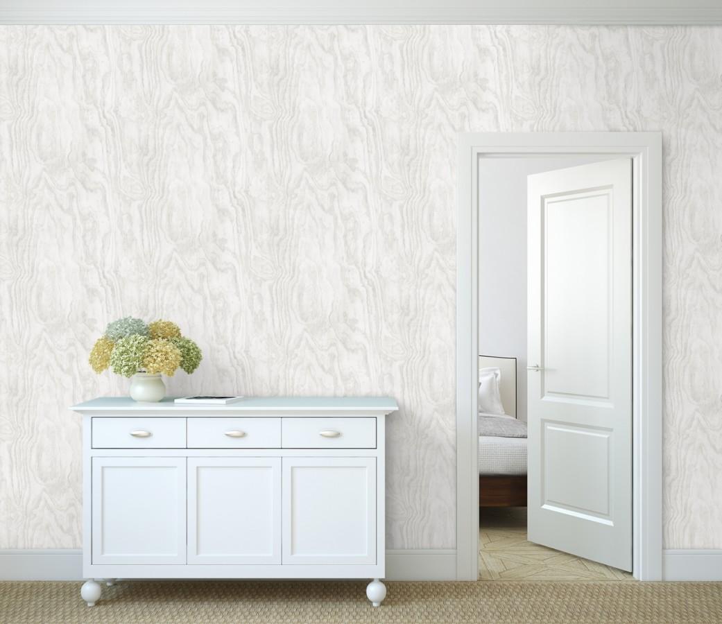 Papel pintado vetas de madera blanca Country Wood 679619