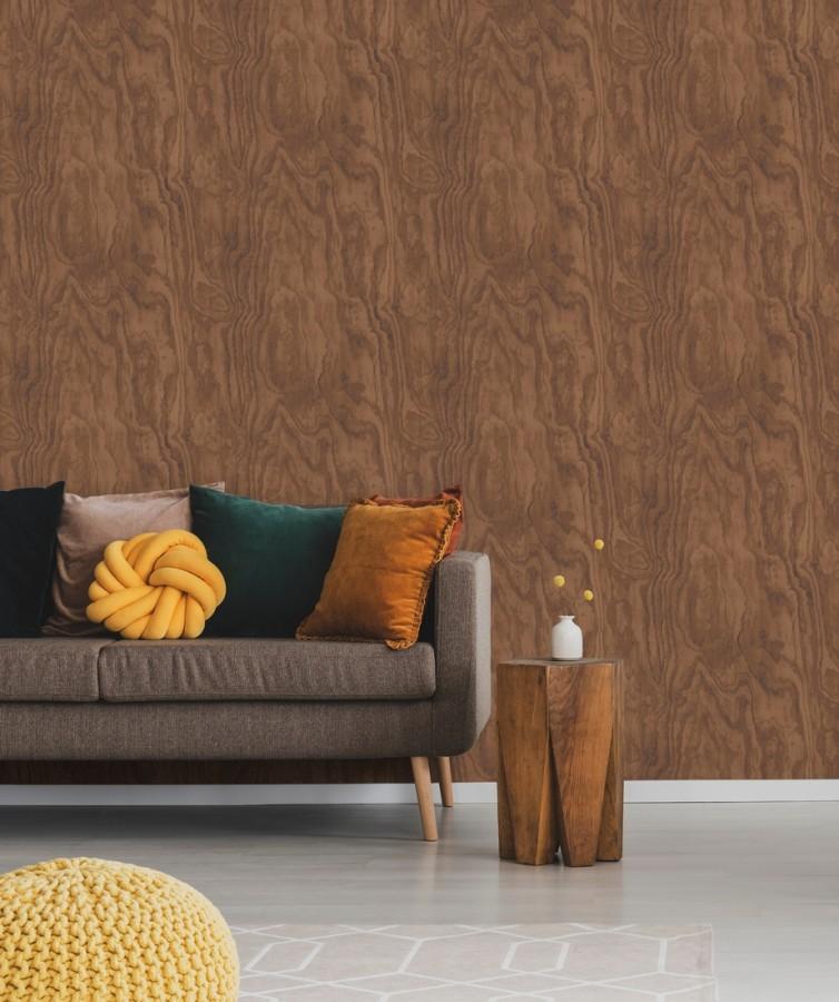 Papel pintado vetas de madera castaño claro Country Wood 679620
