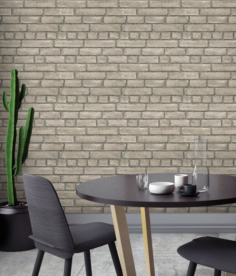 Papel pintado de ladrillos textura piedra Dallas 679632