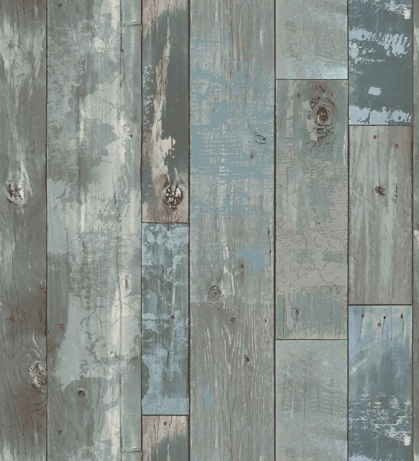 Papel pintado listones de madera estilo tropical Oporto 679633