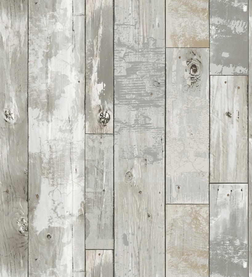Papel pintado listones de madera estilo tropical Oporto 679634