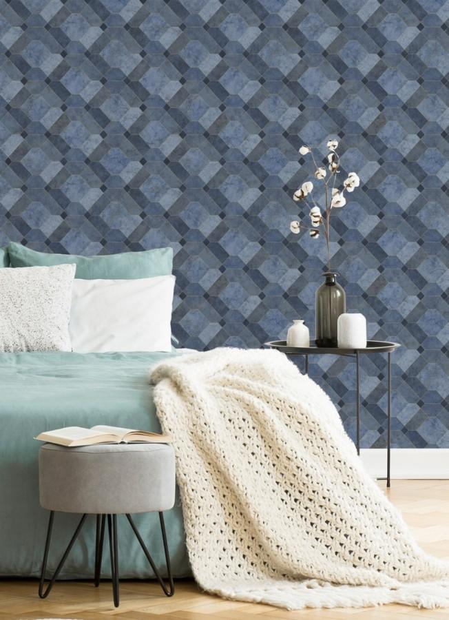 Papel pintado azulejos de piedra geométricos Tarsis 679637