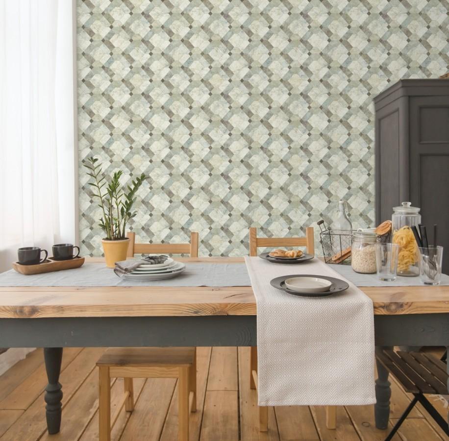 Papel pintado azulejos de piedra geométricos Tarsis 679638