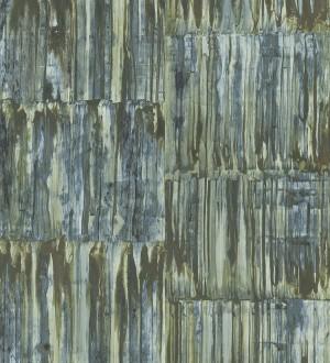 Papel pintado de metal cepillado con óxido Kansas Hall 679642