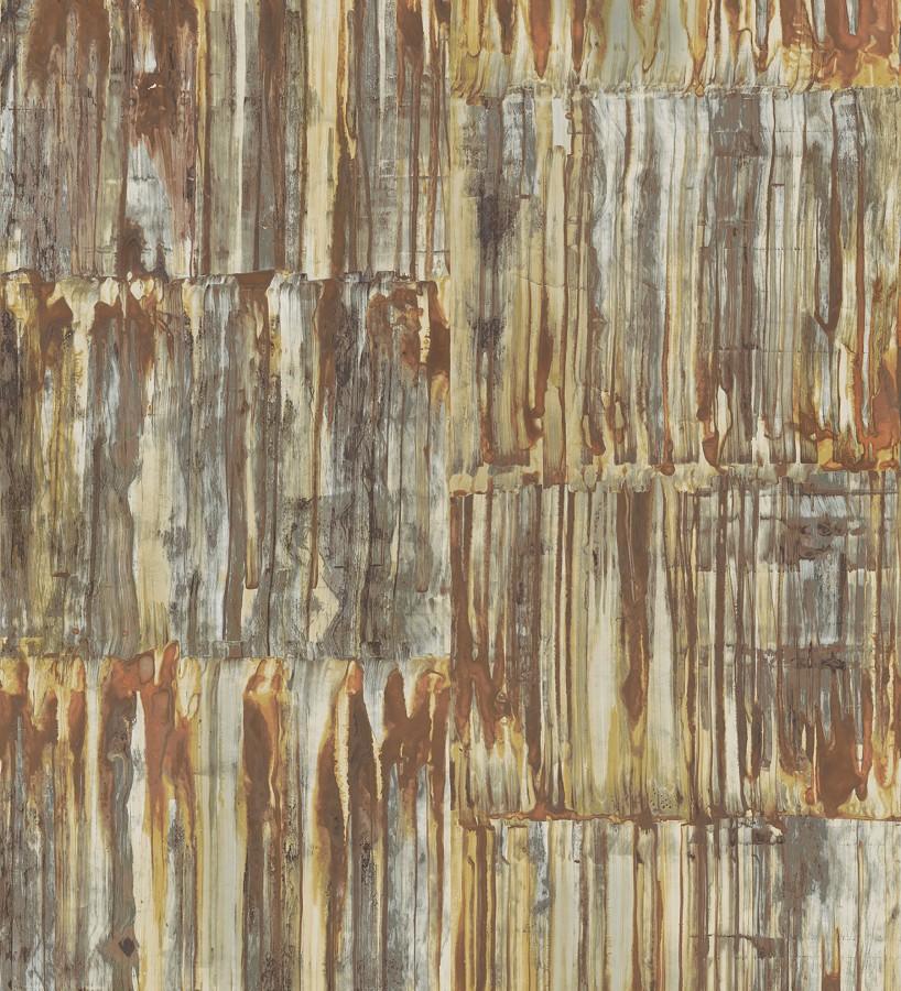 Papel pintado de metal cepillado con óxido Kansas Hall 679643