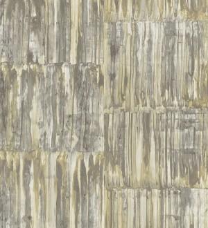 Papel pintado de metal cepillado con óxido Kansas Hall 679645