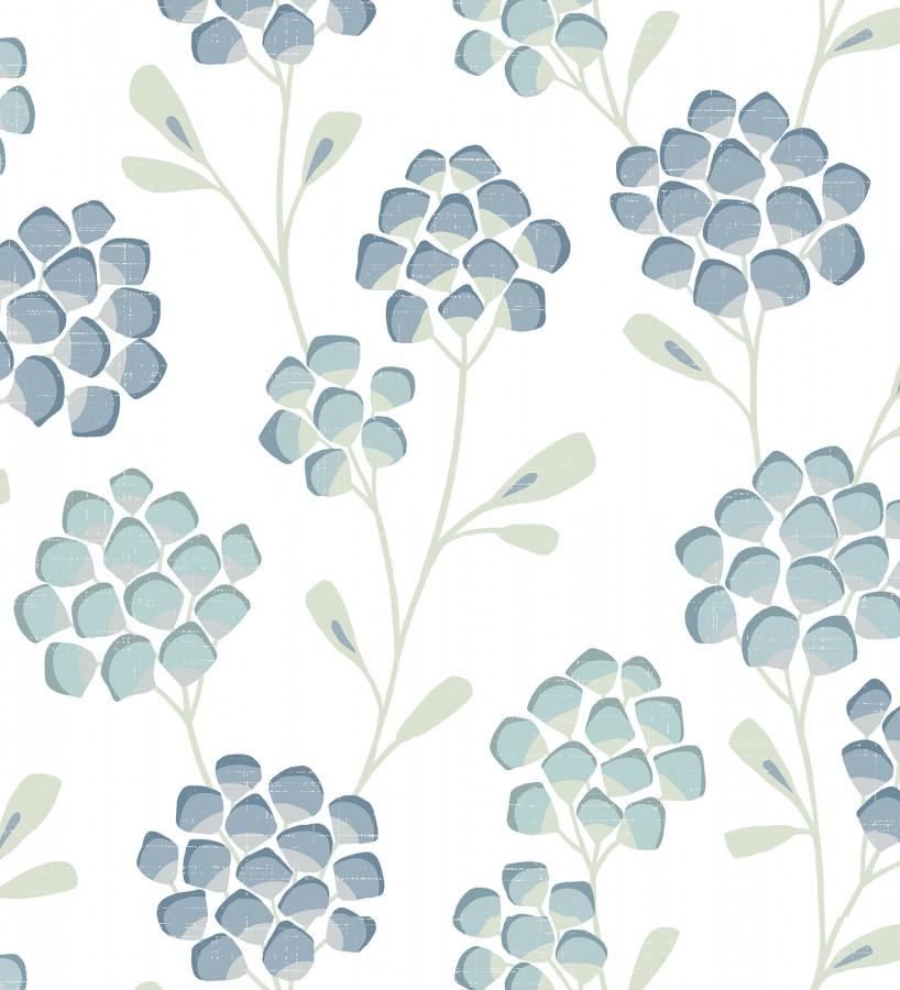 Papel pintado flores con hojas geométricas estilo nórdico Covent Garden 679648