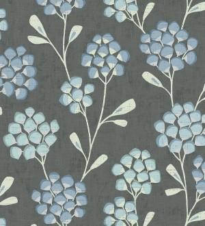 Papel pintado flores con hojas geométricas estilo nórdico Covent Garden 679649