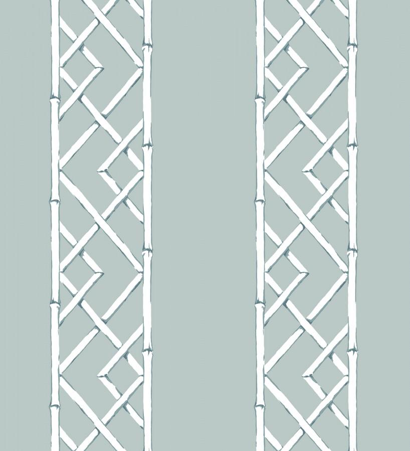 Papel pintado rayas de celosía de bambú Henrik Palace 679654
