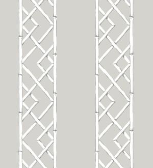Papel pintado rayas de celosía de bambú Henrik Palace 679656
