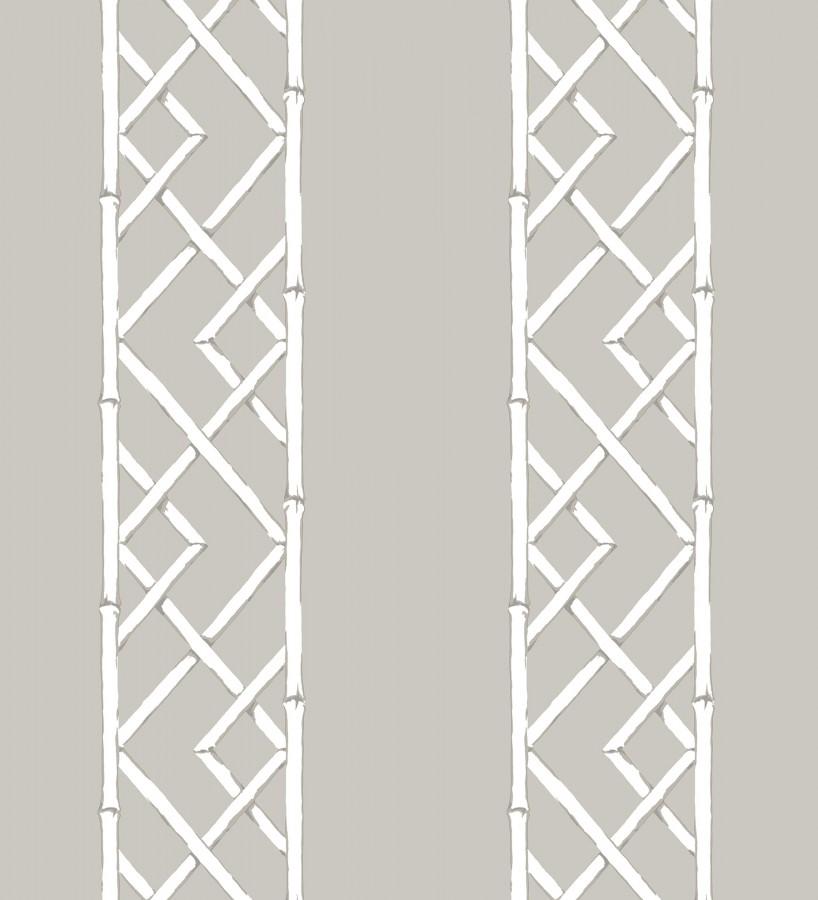 Papel pintado rayas de celosía de bambú Henrik Palace 679657