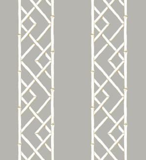 Papel pintado rayas de celosía de bambú Henrik Palace 679658