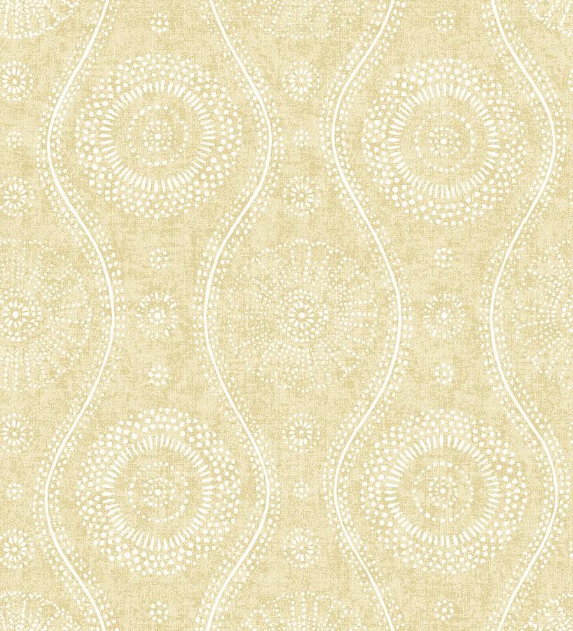 Papel pintado retro estilo hindú Retro Blomst 679669