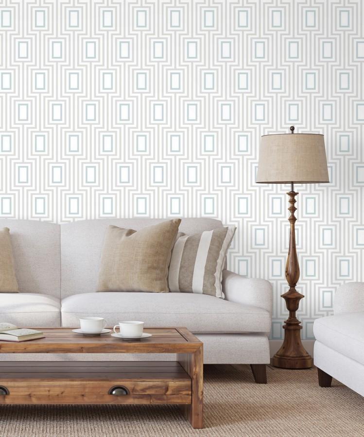 Papel pintado de rectángulos formando un laberinto Clarion 679682