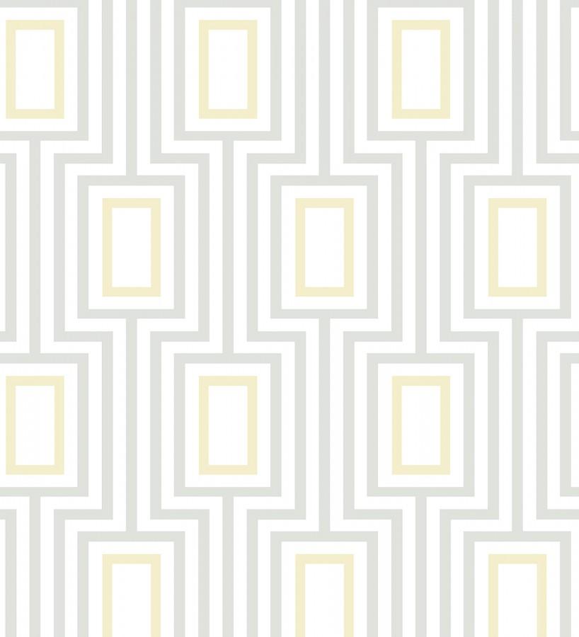 Papel pintado de rectángulos formando un laberinto Clarion 679686