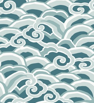 Papel pintado de olas estilo nórdico Greek Waves 679687