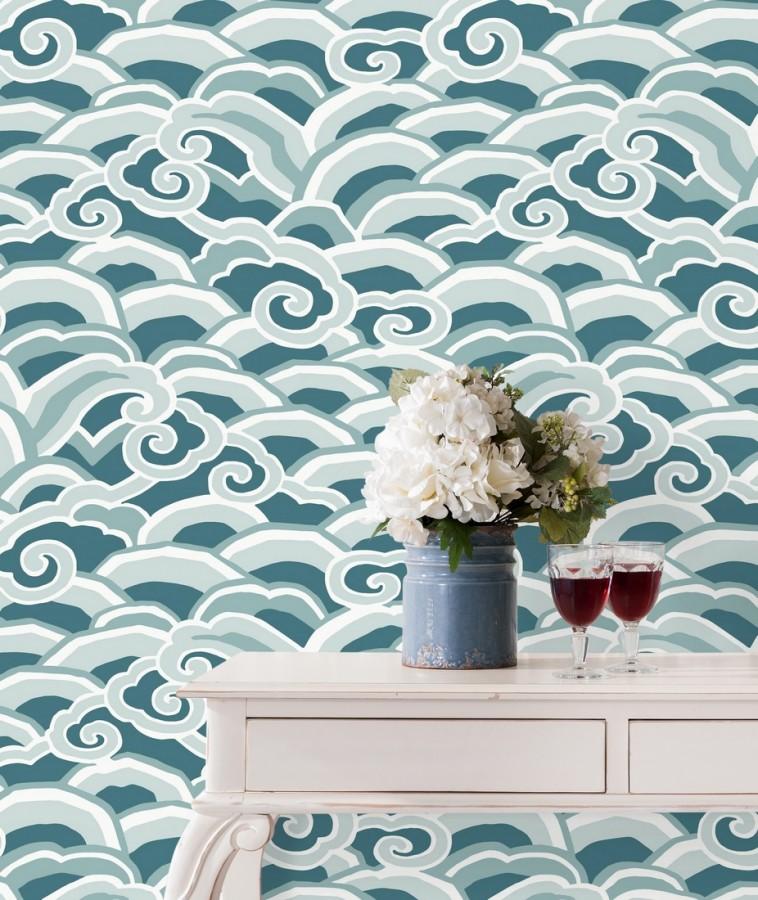 Papel pintado de olas estilo nórdico Greek Waves 679687