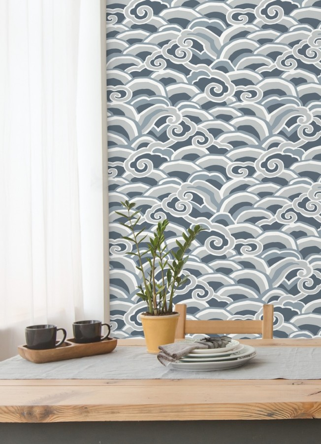 Papel pintado de olas estilo nórdico Greek Waves 679688