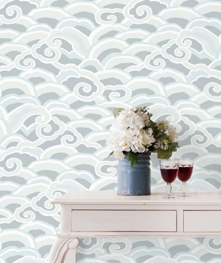 Papel pintado de olas estilo nórdico Greek Waves 679689