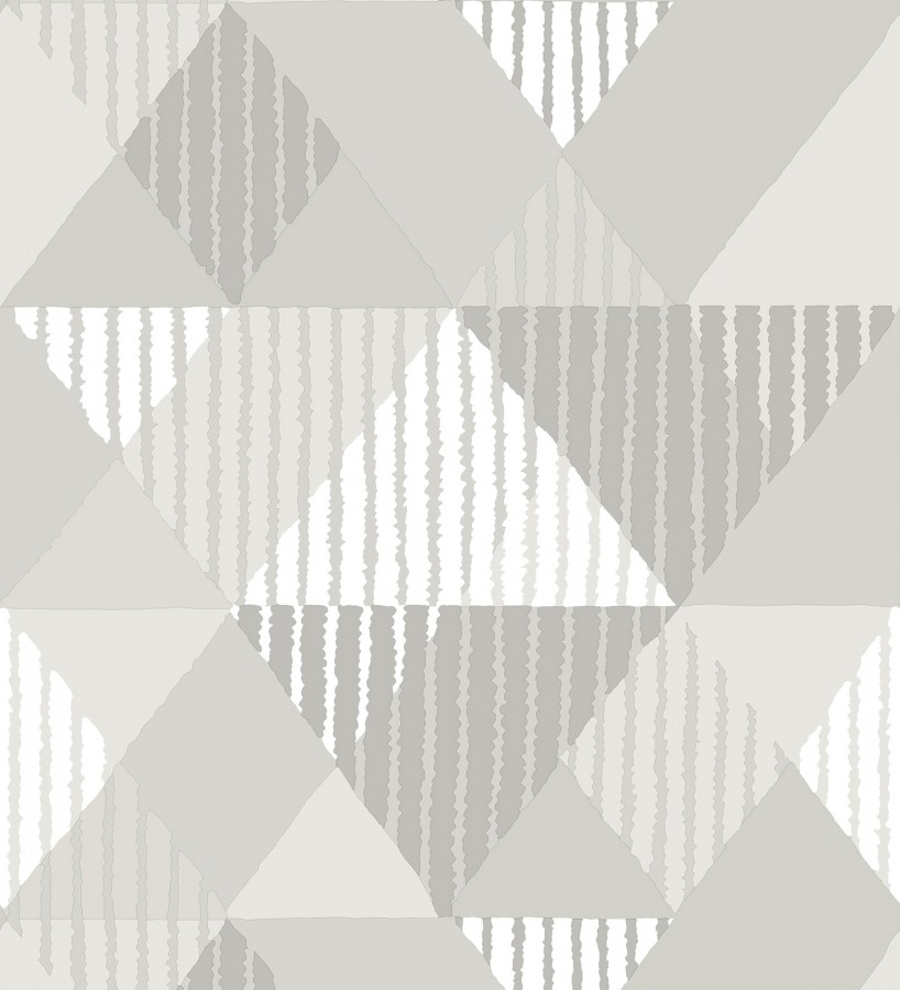 Papel pintado geométrico rombos y rayas Harper 679701