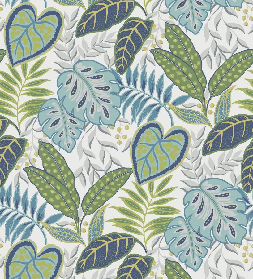 Papel pintado hojas tropicales estilo inglés Belfast Garden 679712