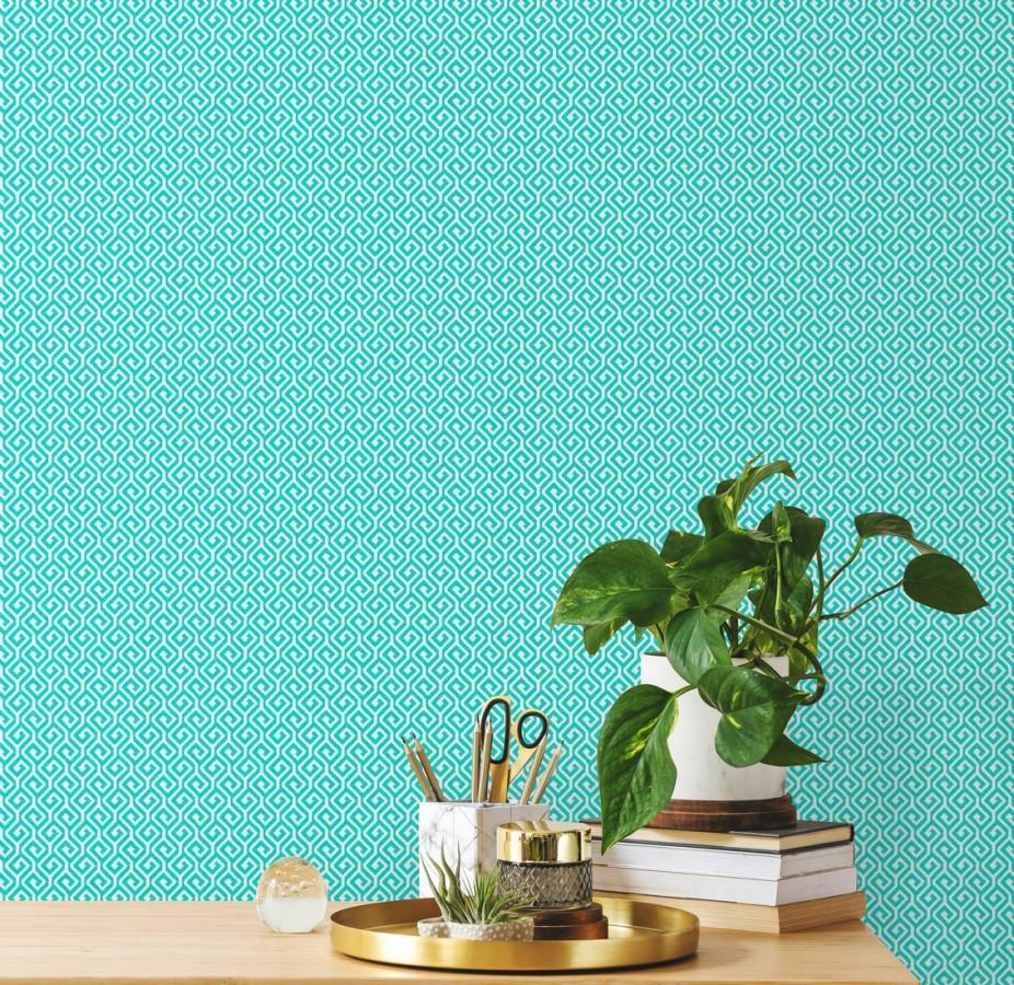 Papel pintado geométrico dibujo minimalista Melbourne 679715