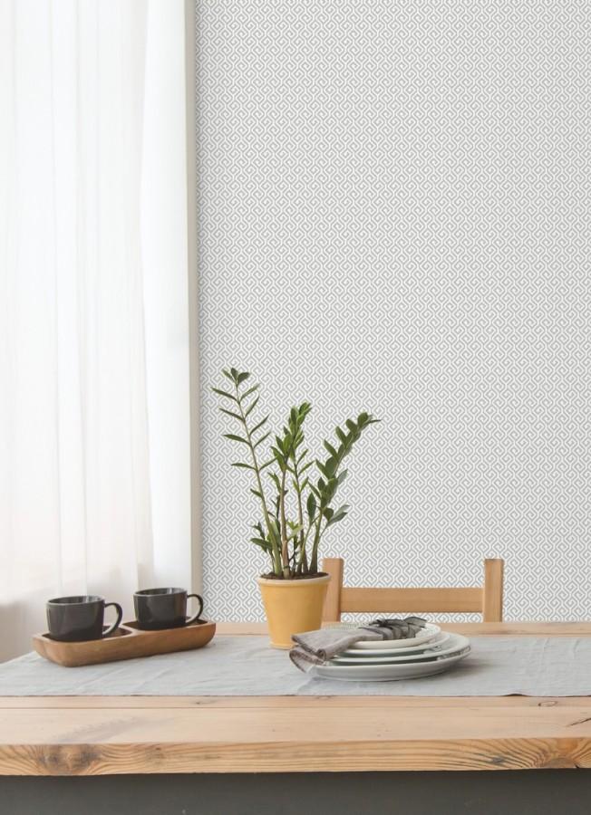 Papel pintado geométrico dibujo minimalista Melbourne 679716