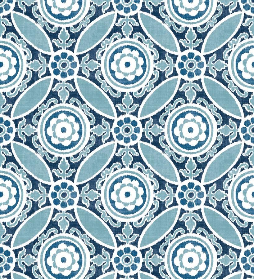 Papel pintado geométrico caleidoscopio azul Scarlet 679729