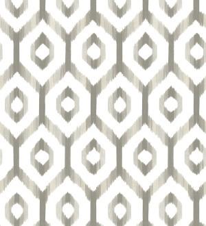 Papel pintado celosía geométrica estilo nórdico tonos grises Hendel 679753