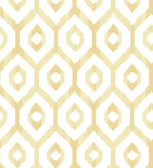 Papel pintado celosía geométrica estilo nórdico tonos ocres Hendel 679754