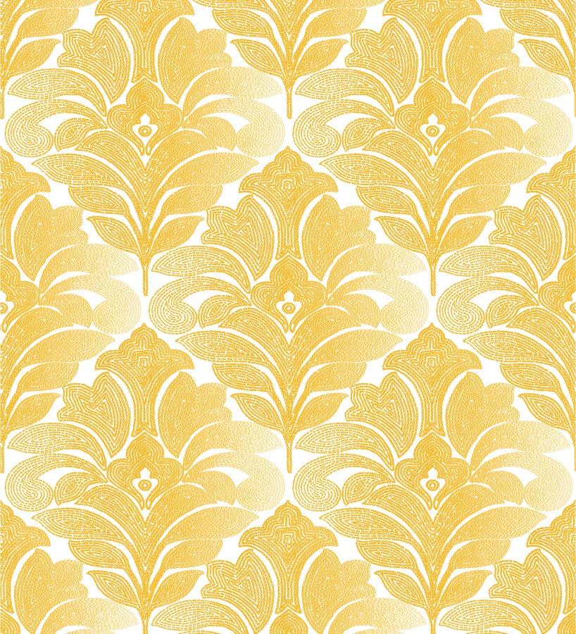 Papel pintado damasco floral moderno tonos ocres Villa Borghese 679757