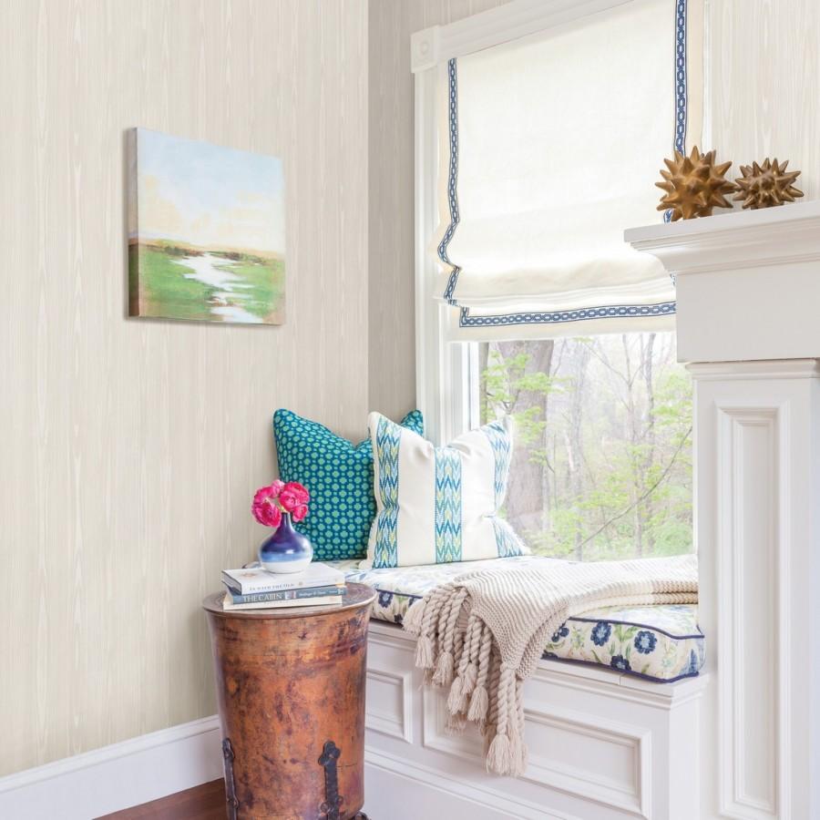 Papel pintado madera veteada blanca Devon Forest 679768