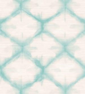 Papel pintado geométrico degradado moderno turquesa Bohemian Vibes 679771