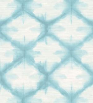 Papel pintado geométrico degradado moderno celeste Bohemian Vibes 679773