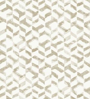 Papel pintado de estilo moderno beige metalizado Kenmore 679781