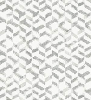 Papel pintado geométrico de estilo moderno tonos metalizados Kenmore 679782