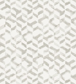 Papel pintado geométrico de estilo moderno tonos grises claros Kenmore 679783
