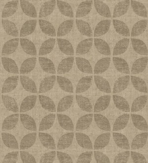 Papel pintado geométrico de círculos entrelazados tonos bronce Clarkson 679795