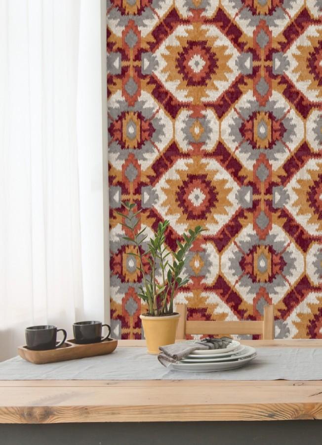 Papel pintado imitación tapiz estilo boho Boho Home 679832