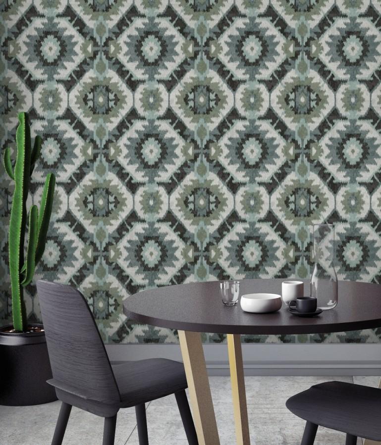 Papel pintado imitación tapiz estilo boho Boho Home 679833