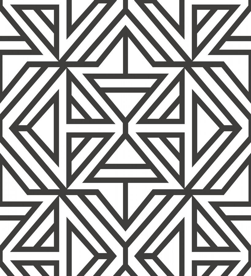 Papel pintado geométrico moderno banco y negro Monaco 679834