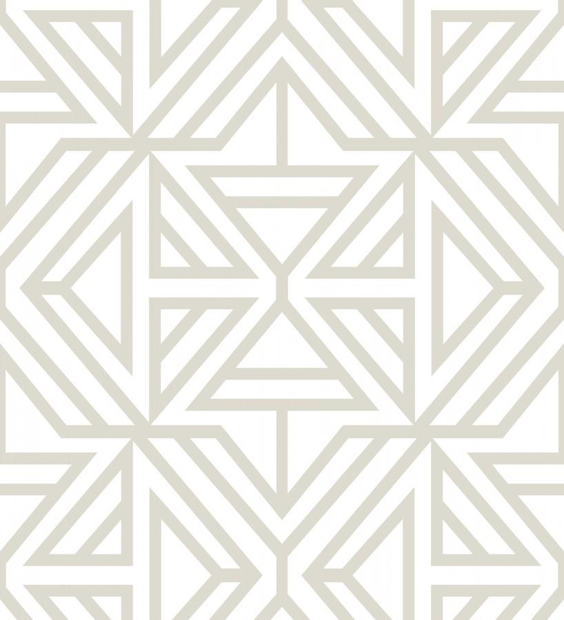 Papel pintado geométrico moderno gris claro Monaco 679835