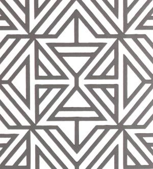 Papel pintado geométrico con terciopelo gris Monaco 679838
