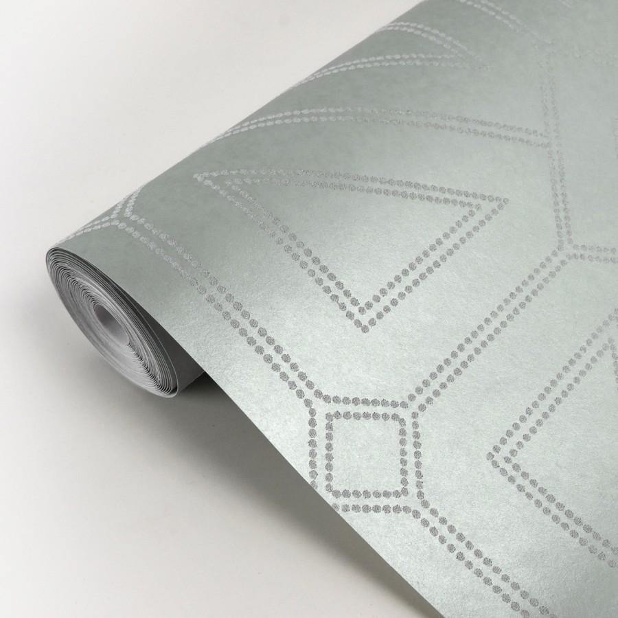Papel pintado geométrico lujoso con incrustaciones de cristales de gel Cooper Place 679841