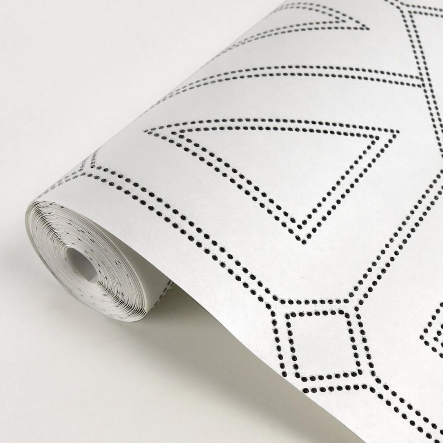 Papel pintado geométrico lujoso con incrustaciones de cristales de gel Cooper Place 679843