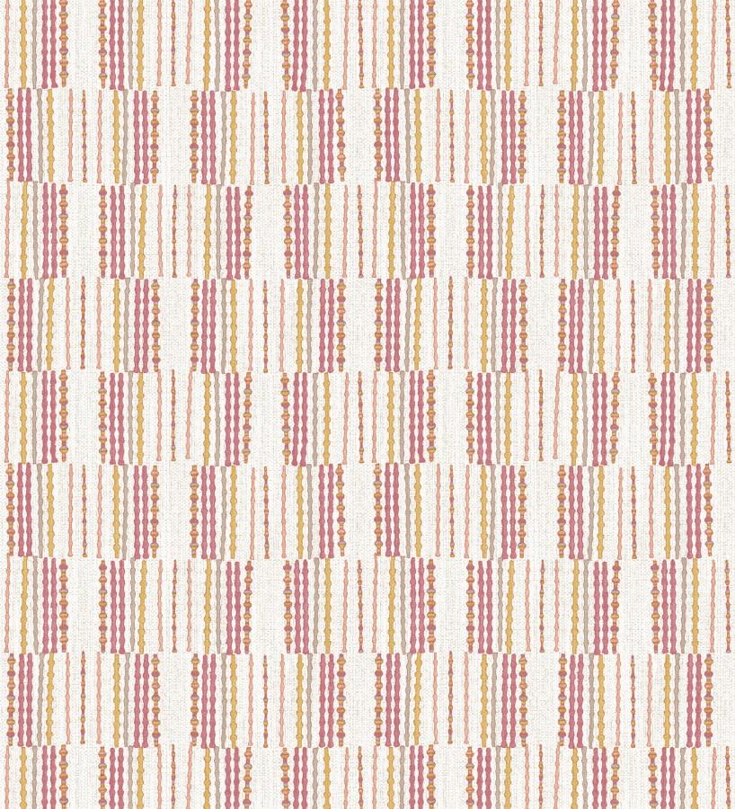 Papel pintado de lineas abstractas con textura textil Trevor Ornaments 680594