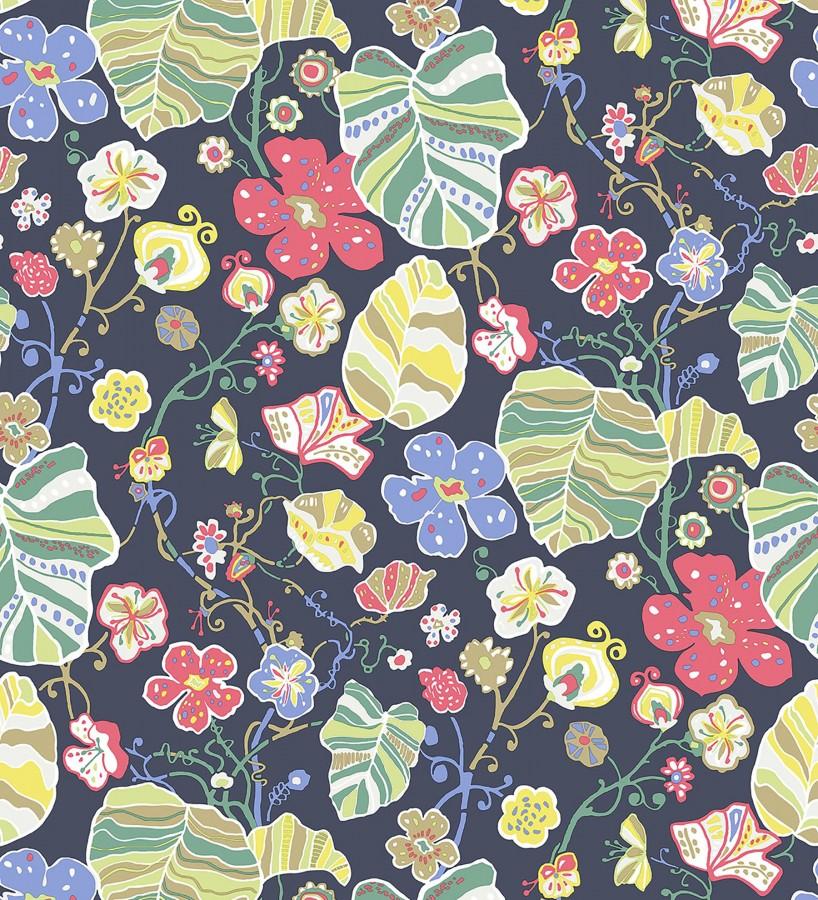 Papel pintado hojas y flores de jardín Candy Park 680596